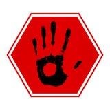 Pare la mano Imagen de archivo libre de regalías