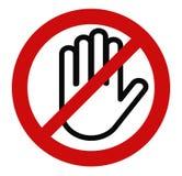 Pare la mano, ninguna entrada stock de ilustración