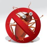Pare la muestra de la cucaracha Imagen de archivo libre de regalías