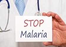 Pare la muestra de la malaria fotos de archivo libres de regalías