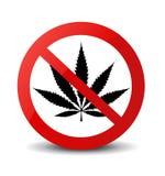 Pare la muestra de la marijuana aislada Fotos de archivo libres de regalías