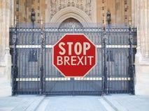 pare la muestra del brexit Fotos de archivo