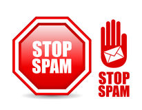 Pare la muestra del Spam Foto de archivo