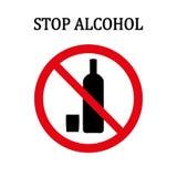 Pare la muestra redonda roja del alcohol Foto de archivo libre de regalías