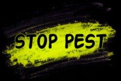 Pare la palabra del parásito con el polvo del resplandor fotografía de archivo libre de regalías