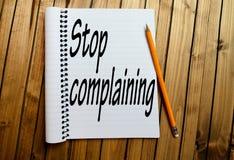 Pare la palabra que se queja foto de archivo