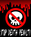 Pare la pena de muerte Foto de archivo
