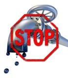 Pare la producción petrolífera Foto de archivo libre de regalías