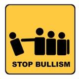 Pare la señal amarilla del bullism Foto de archivo libre de regalías