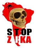 Pare la señal de peligro de Zika Imágenes de archivo libres de regalías