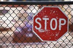 Pare la señal de tráfico Imagenes de archivo