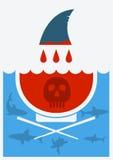 Pare la sopa finning del tiburón Ilustración del vector Imagen de archivo