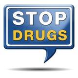 Pare la tenencia ilícita de drogas imagen de archivo