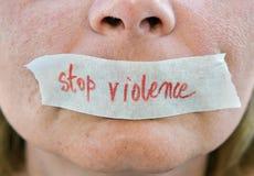 Pare la violencia Imagenes de archivo