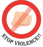 Pare la violencia Fotografía de archivo