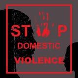 Pare la violencia en el hogar Foto de archivo libre de regalías
