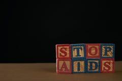 Pare las ayudas Foto de archivo libre de regalías