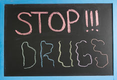 Pare las drogas Fotografía de archivo libre de regalías