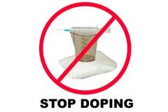 Pare las drogas y el doping fotografía de archivo