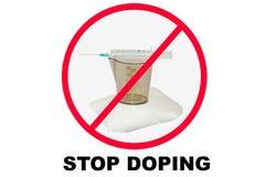 Pare las drogas y el doping fotos de archivo libres de regalías