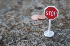 Pare los centavos euro fotografía de archivo libre de regalías