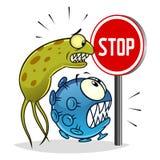Pare los virus y las bacterias libre illustration