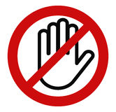 Pare a mão, nenhuma entrada ilustração stock