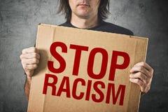 Pare a mensagem do racismo foto de stock royalty free