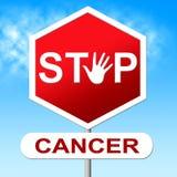 Pare mostras crescimento cancerígeno e controle do câncer ilustração stock