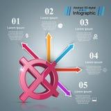 Pare, nenhum ícone 3d realístico Negócio Infographic Imagens de Stock Royalty Free