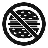 Pare o ícone do fast food, estilo simples ilustração royalty free