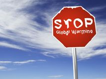 PARE o aquecimento global! Imagens de Stock Royalty Free