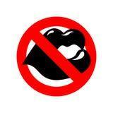 Pare o beijo bordo em proibir o sinal vermelho Beijos da proibição ilustração do vetor
