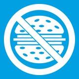 Pare o branco do ícone do fast food ilustração stock