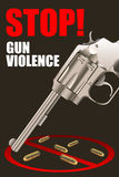 Pare o cartaz da violência armada Foto de Stock Royalty Free