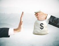 Pare o conceito da corrupção imagem de stock