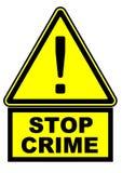 Pare o crime Sinal de aviso ilustração royalty free