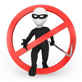 Pare o criminoso! Foto de Stock Royalty Free