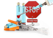 Pare o diabetes fotografia de stock