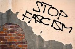 Pare o fascismo Imagens de Stock