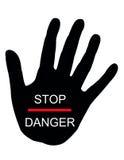 Pare o perigo ilustração do vetor