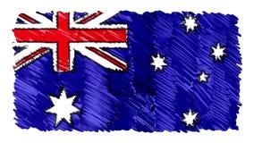 Pare o símbolo colorido patriótico nacional tirado marcador da qualidade nova do fundo da animação dos desenhos animados da bande ilustração stock