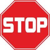 Pare o símbolo do sinal de tráfego Foto de Stock