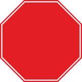 Pare o símbolo do sinal de tráfego nenhumas letras Fotografia de Stock