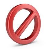 Pare o símbolo. o ícone 3D isolou-se Foto de Stock Royalty Free