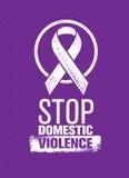 Pare o selo da violência doméstica Conceito social criativo do elemento do projeto do vetor Fotografia de Stock