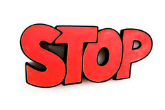 Pare o sinal Imagens de Stock