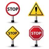 Pare o sinal Fotografia de Stock