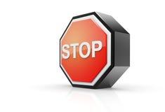 Pare o sinal 3D Foto de Stock Royalty Free