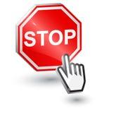 Pare o sinal, 3d. Fotos de Stock